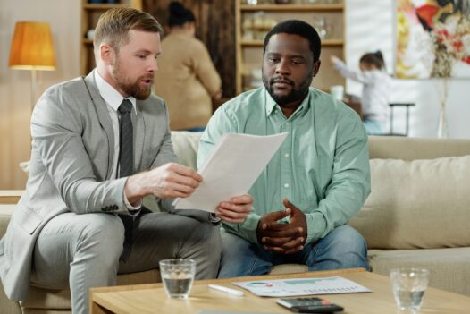 Meeting estate agent